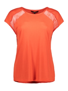 vmphilippa sl top jrs 10212479 vero moda t-shirt fiery red