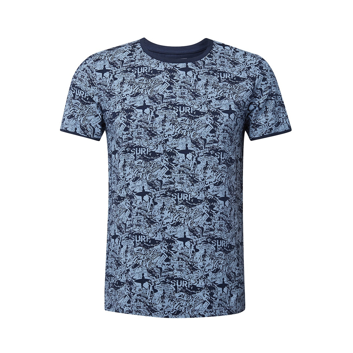t shirt met all over print 1011138xx12 tom tailor t-shirt 17825