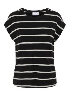 Vero Moda T-shirt VMAVA PLAIN SS TOP NEMO STRIPE GA N 10220773 Black/LGM