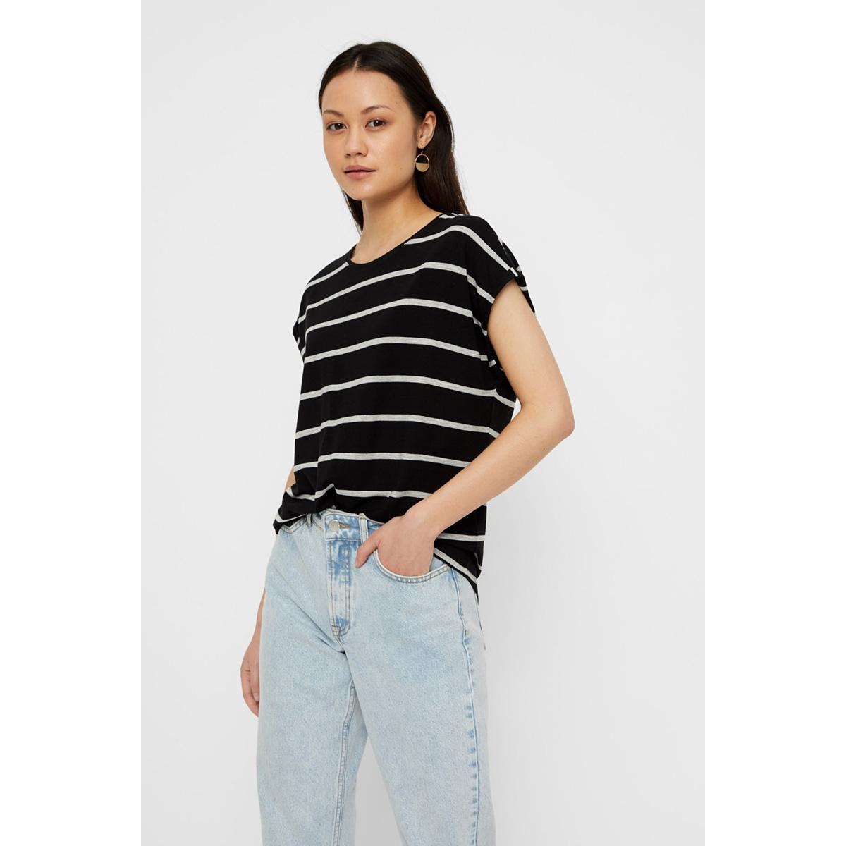 vmava plain ss top nemo stripe ga n 10220773 vero moda t-shirt black/lgm