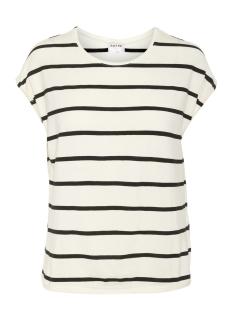 Vero Moda T-shirt VMAVA PLAIN SS TOP NEMO STRIPE GA N 10220773 Pristine/BLACK