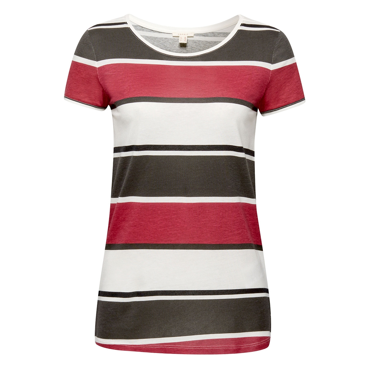 t shirt met all over print 079ee1k025 esprit t-shirt e110 off white colourway
