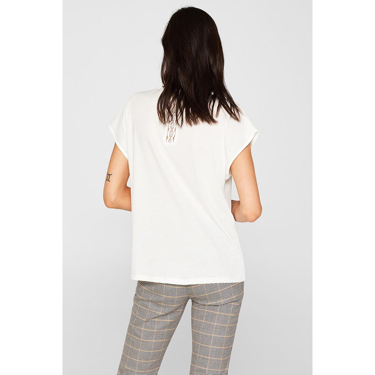 fashion t shirt 079eo1k003 esprit collection t-shirt e110 off white