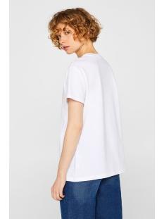 t shirt in basic look 049ee1k066 esprit t-shirt e100 white