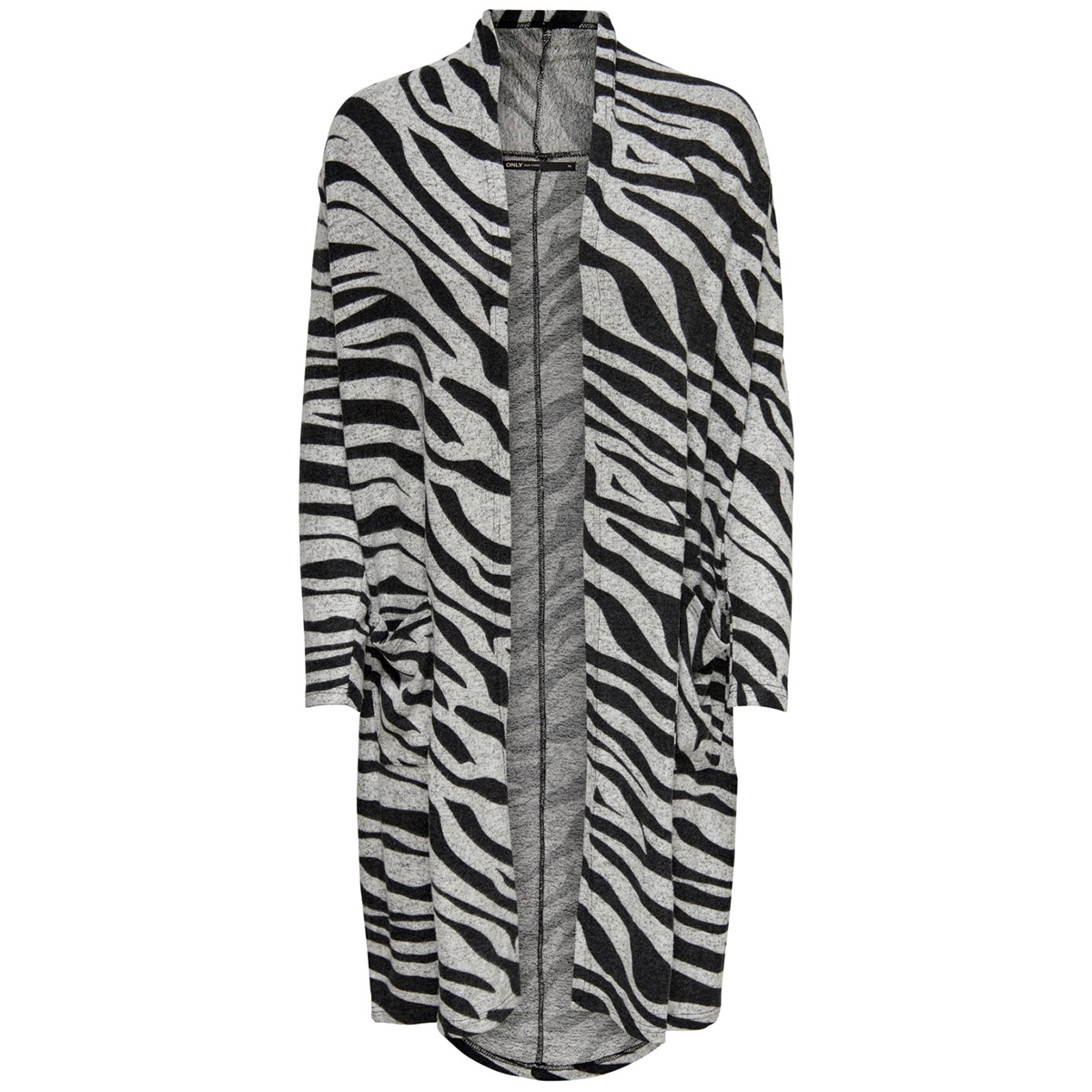 onlnew maye l/s cardigan box cc knt 15179826 only vest light grey mela/w. zebra