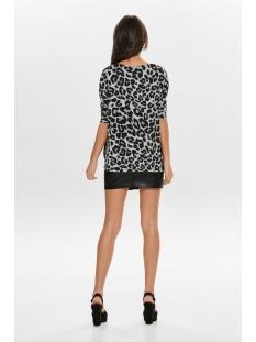 onlmaye l/s aop  pullover cc knt 15169510 only trui light grey mela/w. leopard