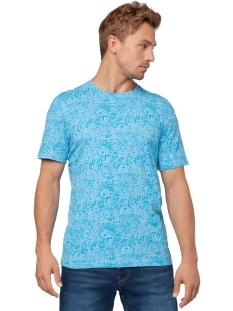 t shirt met all over print 1012839xx10 tom tailor t-shirt 20712