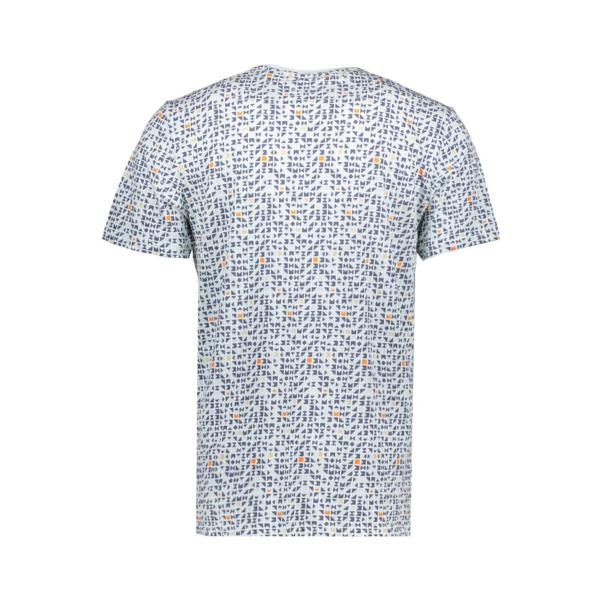 onstrey reg ss aop tee 22015169 only & sons t-shirt blue ice