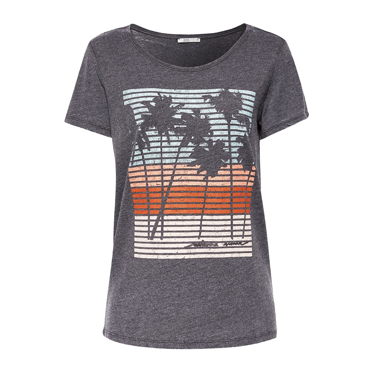 burn out shirt met artwork print 079cc1k020 edc t-shirt c001