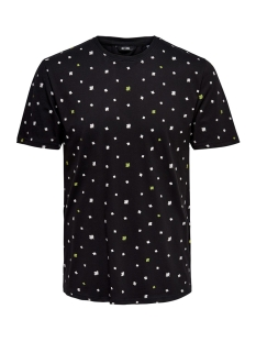 Only & Sons T-shirt onsDIVISION AOP SS TEE VD 22013659 Black