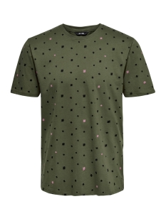 Only & Sons T-shirt onsDIVISION AOP SS TEE VD 22013659 Olive Night