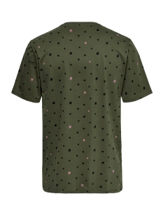 onsdivision aop ss tee vd 22013659 only & sons t-shirt olive night