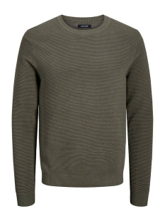 Jack & Jones Trui JJELIAM KNIT CREW NECK NOOS 12157344 Olive Night