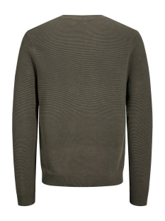 jjeliam knit crew neck noos 12157344 jack & jones trui olive night