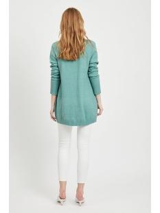 viril l/s  open knit cardigan-noos 14044041 vila vest oil blue