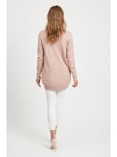 viril l/s  open knit cardigan-noos 14044041 vila vest ash rose/melange