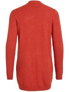 viril l/s  open knit cardigan-noos 14044041 vila vest ketchup/melange