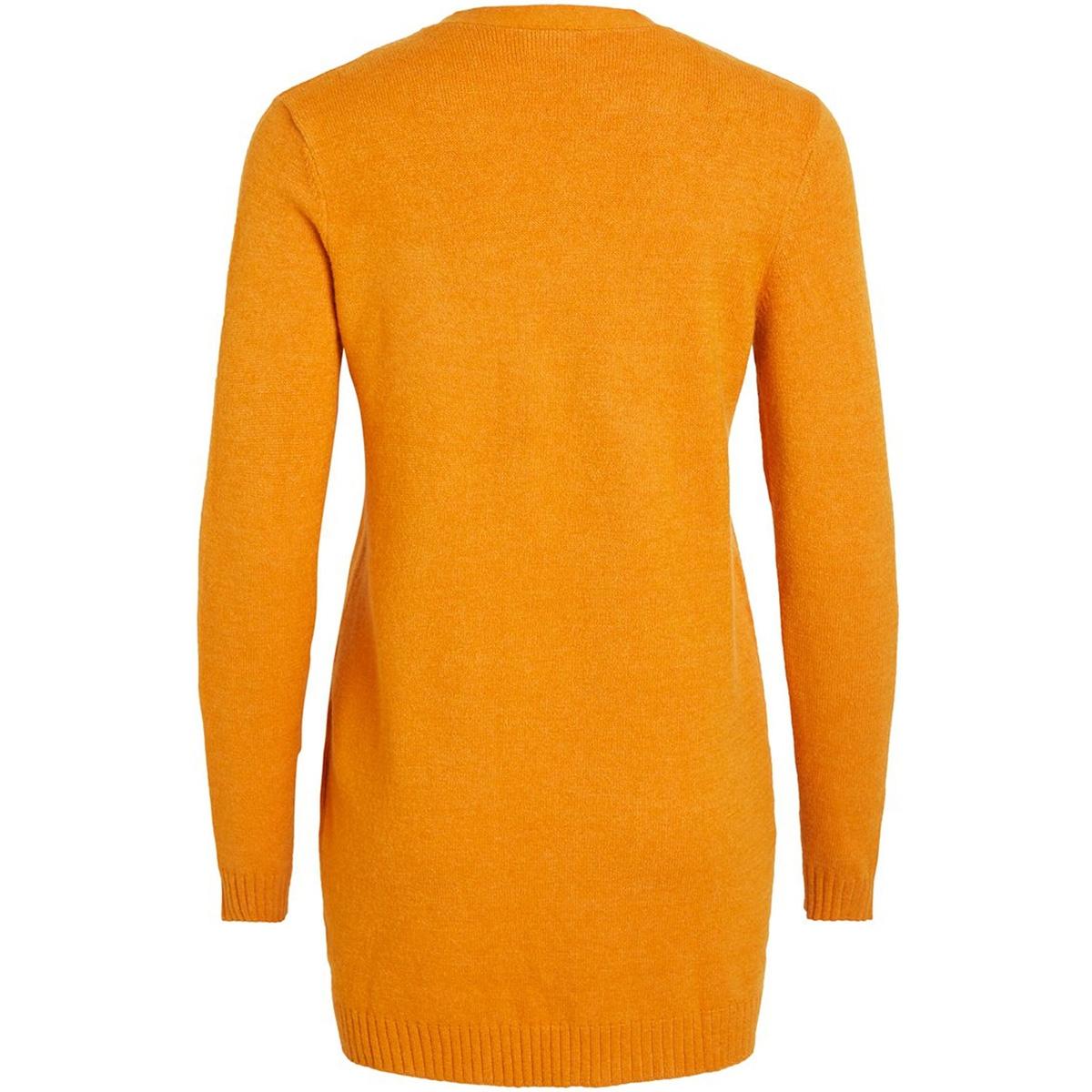 viril l/s  open knit cardigan-noos 14044041 vila vest golden oak/melange