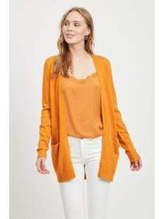 viril l/s  open knit cardigan-noos 14044041 vila vest golden oak/melange
