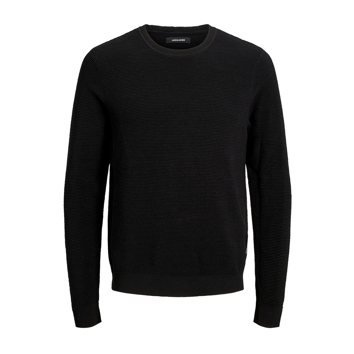 jjeliam knit crew neck noos 12157344 jack & jones trui black