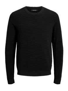 Jack & Jones Trui JJELIAM KNIT CREW NECK NOOS 12157344 Black