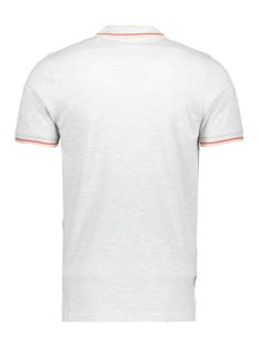 jcopark polo ss 12155183 jack & jones polo white melange/slim