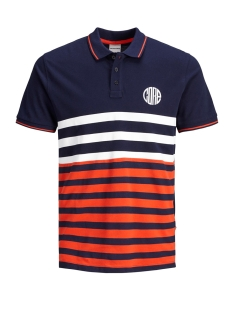 Jack & Jones Polo JCOPARK POLO SS 12155183 Maritime Blue/SLIM