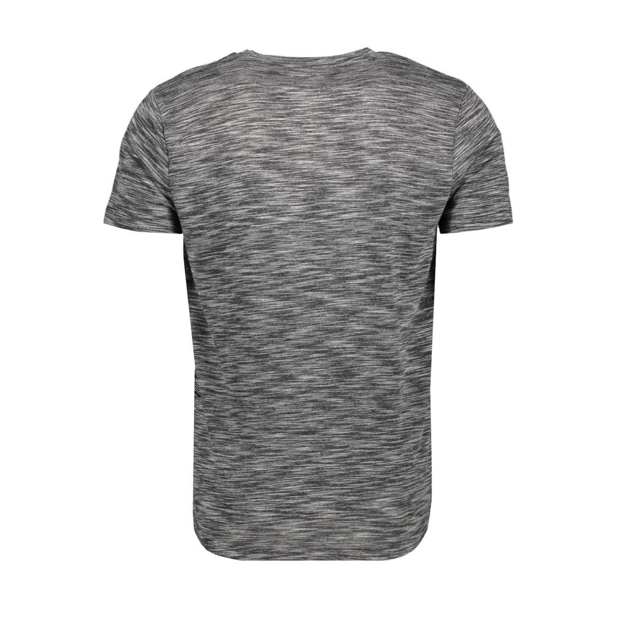 gemeleerd t shirt met borstzak 1011974xx12 tom tailor t-shirt 15934
