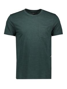 gemeleerd t shirt met borstzak 1011974xx12 tom tailor t-shirt 20066
