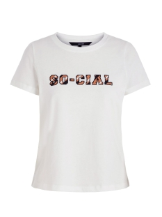 Vero Moda T-shirt VMCUBA FRANCIS SS TOP BOX JRS GA 10221110 Snow Whithe/OPT. 1