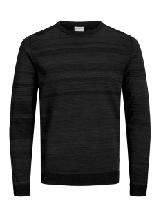 Jack & Jones Trui JCOELM KNIT CREW NECK 12155957 Black/TWISTED WITH