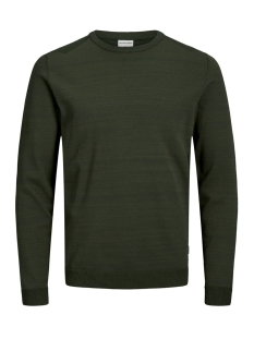 jcoelm knit crew neck 12155957 jack & jones trui rosin/knit fit