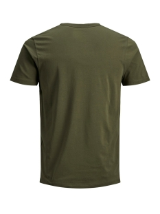 basic v-neck tee s/s noos 12059219 jack & jones t-shirt olive night