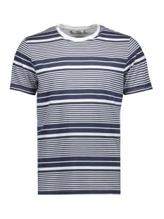 Jack & Jones T-shirt JPRSTUARTY TEE SS CREW NECK 12165991 White/Printed tripes