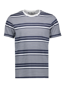 jprstuarty tee ss crew neck 12165991 jack & jones t-shirt white/printed tripes