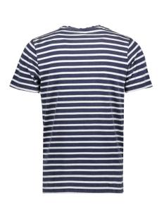 jprstuarty tee ss crew neck 12165991 jack & jones t-shirt mood indigo/yarn dyed