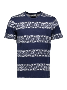 Jack & Jones T-shirt JPRSTUARTY TEE SS CREW NECK 12165991 Mood Indigo/JAQUARD