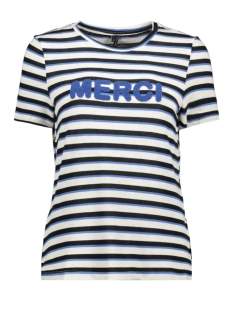 Vero Moda T-shirt VMKIA HONIE STRIPE SS  TOP JRS 10217987 Birch/With Blue