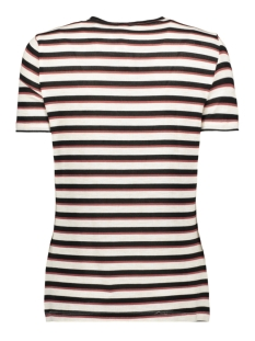 vmkia honie stripe ss  top jrs 10217987 vero moda t-shirt birch / with black