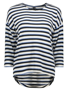 Vero Moda T-shirt VMKIA HONIE STRIPE 3-4 WIDE  TOP JR 10217988 Brich/With Blue