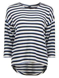 Vero Moda T-shirt VMKIA HONIE STRIPE 3-4 WIDE  TOP JR 10217988 Brich/With Blue
