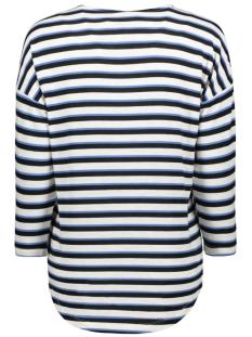 vmkia honie stripe 3-4 wide  top jr 10217988 vero moda t-shirt brich/with blue