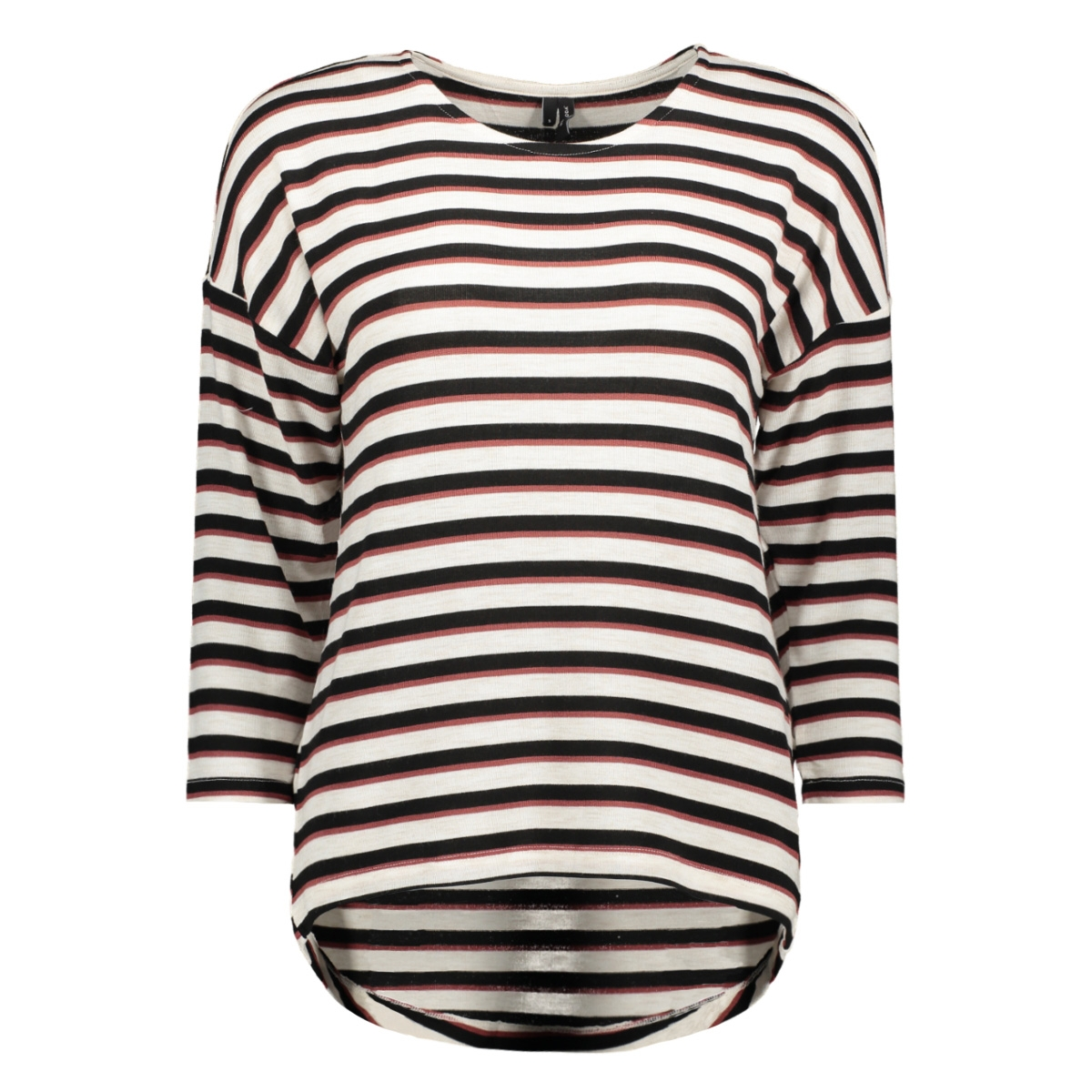 vmkia honie stripe 3-4 wide  top jr 10217988 vero moda t-shirt birch/with black