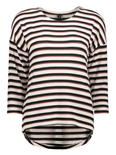 Vero Moda T-shirt VMKIA HONIE STRIPE 3-4 WIDE  TOP JR 10217988 Birch/With Black