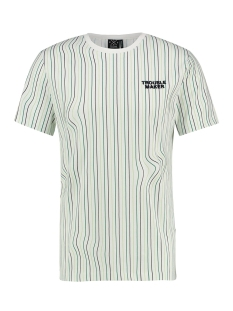 Kultivate T-shirt TS TROUBLE STRIPE 1901030200 203 Ecru