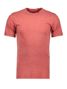 Jack & Jones T-shirt ONSPOVEL REG FIT  RAW EDGE EQ  4249 22014249 Cinnabar