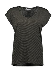 Pieces T-shirt PCBILLO TEE LUREX STRIPES NOOS 17078572 Black/GOLD LUREX