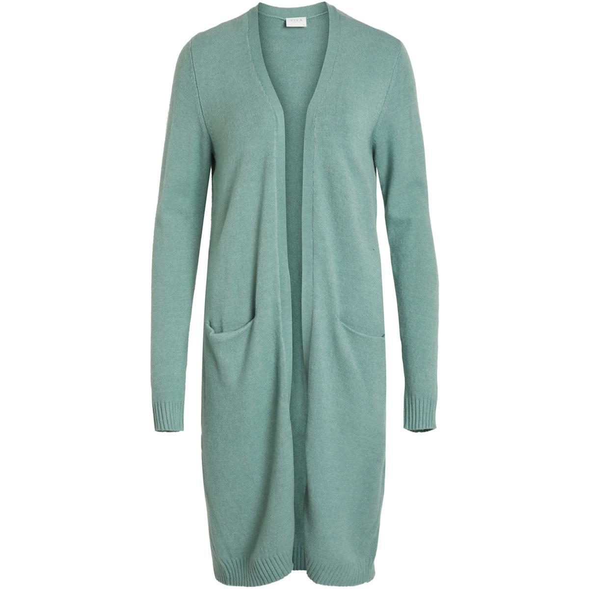 viril l/s long knit cardigan-noos 14042770 vila vest oil blue/melange