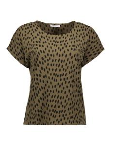 Pieces T-shirt PCJANE SS TOP D2D 17094128 Beech/BLACK DOTS