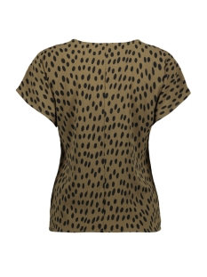 pcjane ss top d2d 17094128 pieces t-shirt beech/black dots